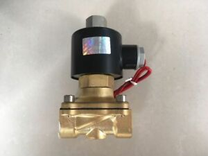 "12V DC G1/"" N//O Brass Electric Solenoid Valve Water Gas Air Normally Open Type"