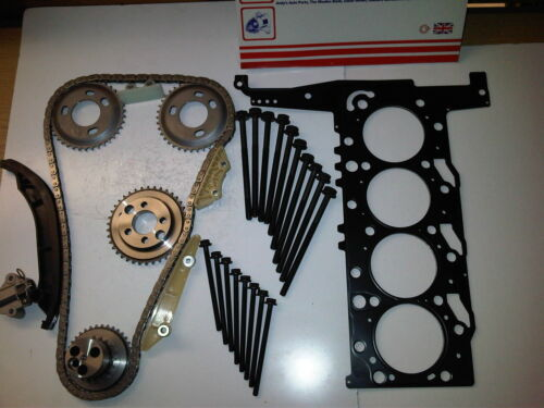 FORD TRANSIT MK7 2.4 TDCi DIESEL TIMING CHAIN KIT + HEAD GASKET & BOLTS 06-14