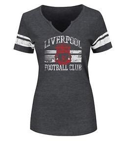 Liverpool-Football-Club-Women-039-s-Go-Far-Tee-Charcoal-Sizes-Small-amp-Medium