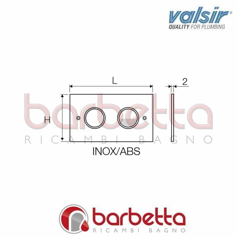 R7 COMANDO NON INGOMBRO CON PLACCA IN METALLO 2X175X100 VALSIR VS0872235