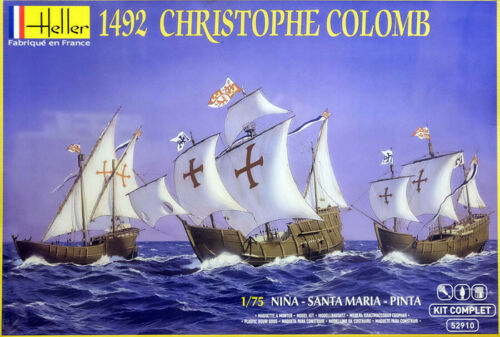Christoph Columbus 3 Schiffe Santa Maria Pinta Nina 1:75 Bausatz Heller 52910