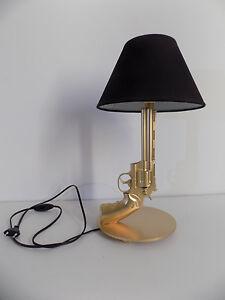LAMPE-DESIGN-357-magnum-chevet-bureau-table-gun-guerre-arme-luxe-lamp-Light