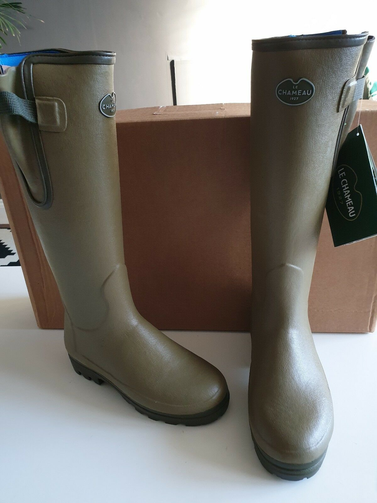 Le Chameau Vierzonord  Ladies Neoprene Lined Boots Size 35 green Green