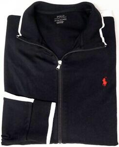 NEW-125-Polo-Ralph-Lauren-Full-Zip-Black-White-Long-Sleeve-Knit-Jacket-Mens-NWT