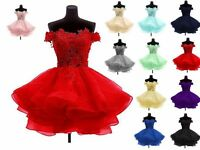 New Short Prom Dress Bridesmaid Wedding Evening Formal Party Ball Gown Custom
