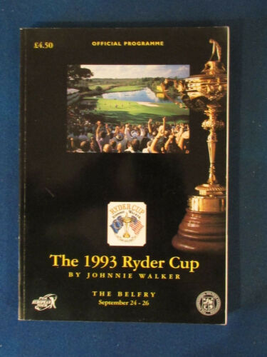 Ryder Cup 1993 Programme Held at The Belfry 404 pages