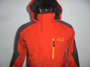JACK-WOLFSKIN-Jacke-outdoor-family-kids-orange-texapore-4x4-oldschool-Gr-164