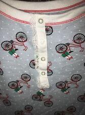 Bicycle Print Pajama Shirt  Thermal Christmas XL Urban Outfitters Modcloth Top