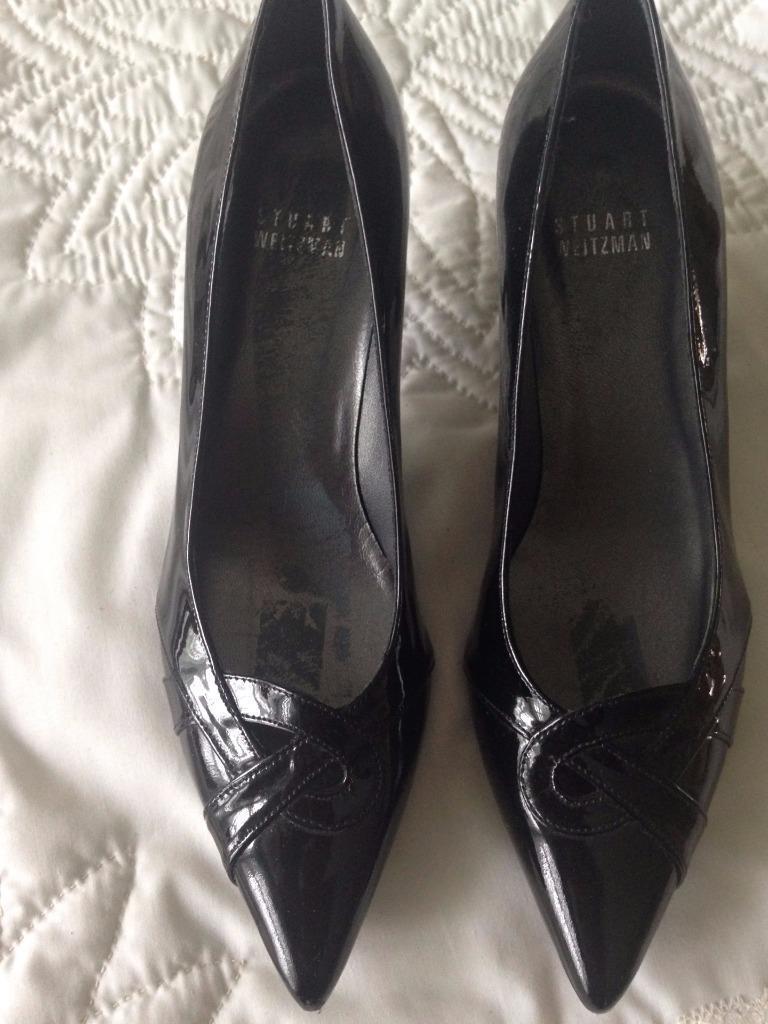 Stuart Weitzman nero Patent Leather 2 1 4  Heels Classic Pump Dimensione 5 1 2 Medium