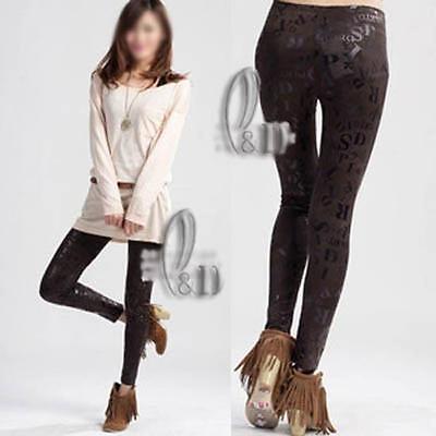 AU SELLER High Waist Snake Leather Look Dance Rockabilly Leggings pants  P121