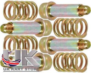 Brake-Pad-Premium-Return-Bolts-Sleeves-amp-Spring-Set-x-4-UK-KART-STORE