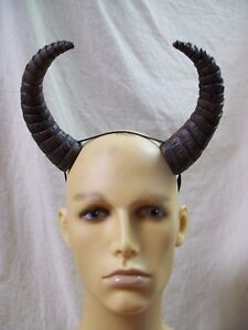 Brown Black Yak Horns Buffalo Bison Pan Minotaur Goat Fantasy
