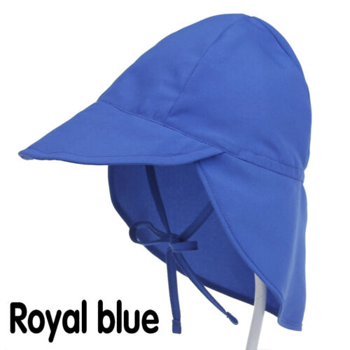 UK Baby Boys Girls Sun Protection Swim Hat Children Sunscreen Outdoors Cap Hot