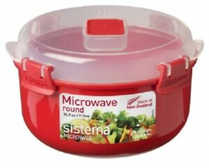 Sistema-915ml-Round-Bowl-Removable-Steaming-Container-Microwavable-Lunch-Box