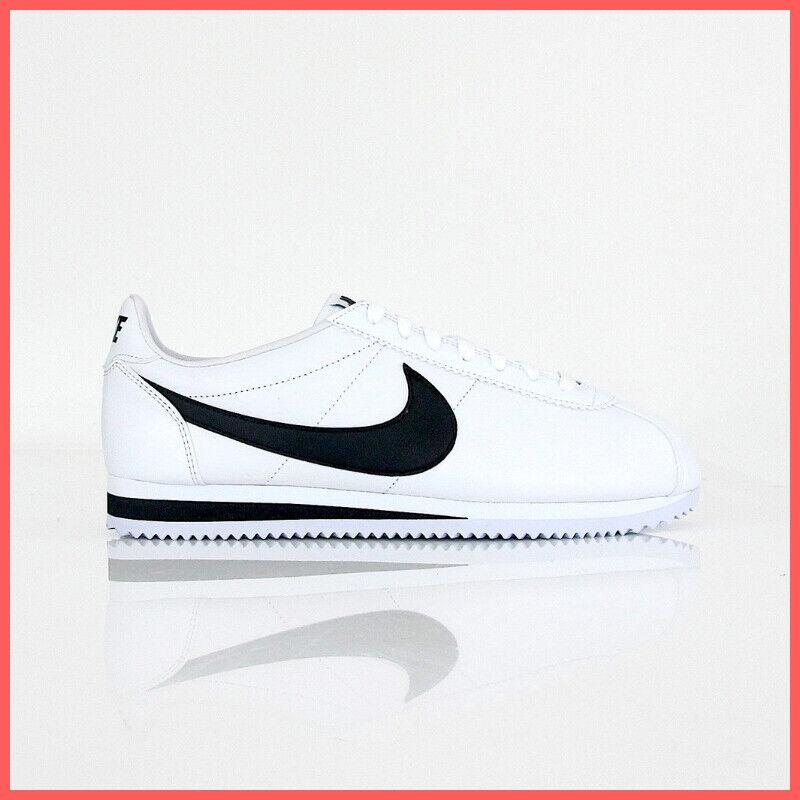 Nike Schuhe Schuhe Schuhe herren Klassisch Cortez Leather 749571 100 Far. Weiß Schwarz Winter 6b2