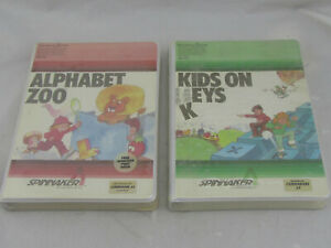 New-Lot-of-2-Commodore-64-Video-Games-Alphabet-Zoo-amp-Kids-On-Keys-NOS-Sealed