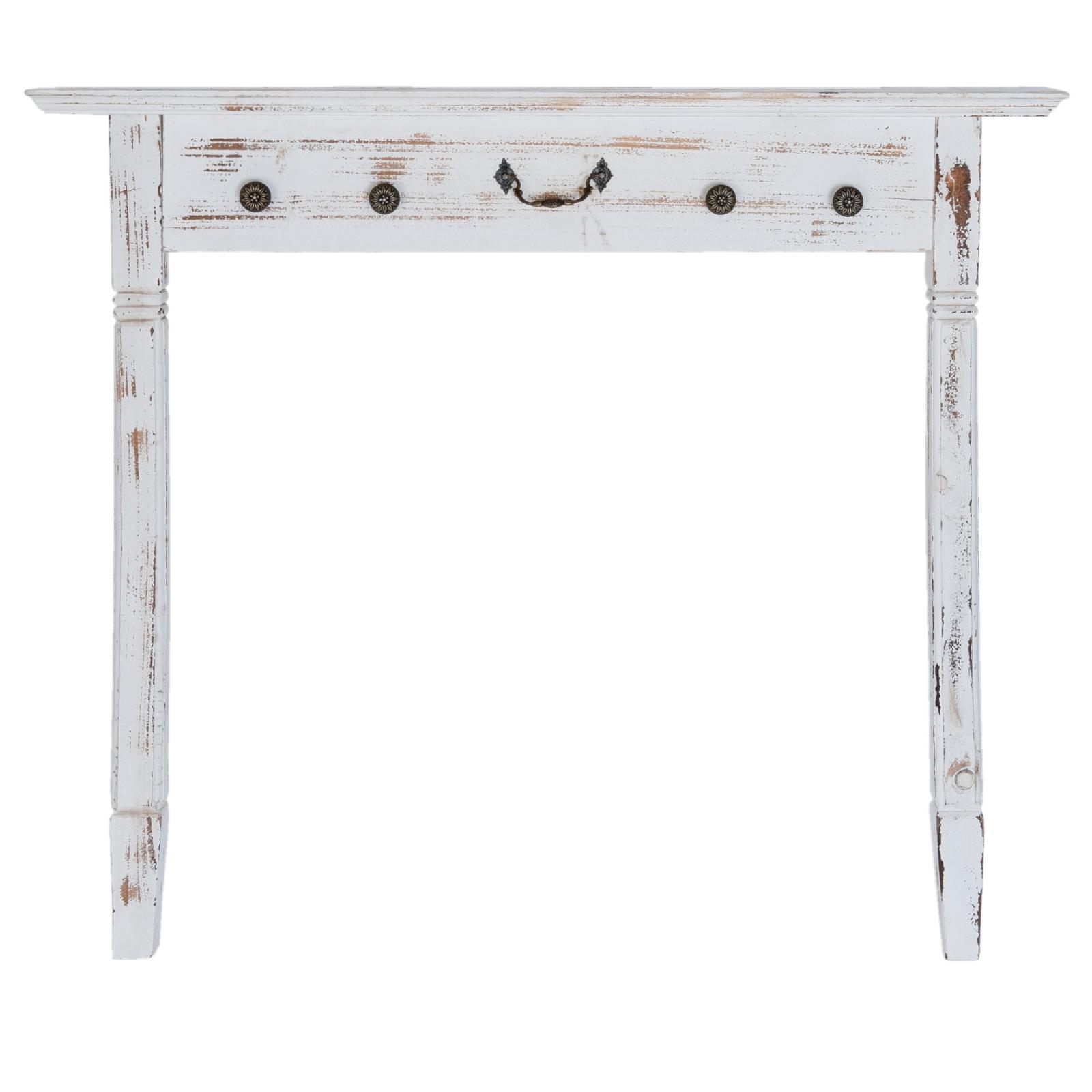 Clayre & Eef Wandtisch  weiß gewischt  Holz  911781 cm  für Wandmontage