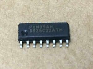 (16 PC)  NATIONAL  DS26C32ATM  Quad Receiver RS-422/RS-423 16-Pin SOIC