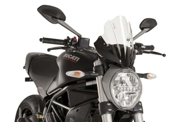 DUCATI MONSTER 1200 R 2016 > PUIG SCREEN CLEAR TOURING NAKED WINDSCREEN