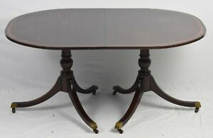 Details About Kittinger Banded Mahogany Duncan Phyfe Dining Table In The Williamsburg Style