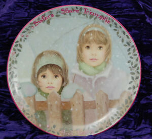 Kindred-Moments-Plate-SISTERS-SHARE-TRIUMPHS-Eleventh-11th-Chantal-Poulin-1997