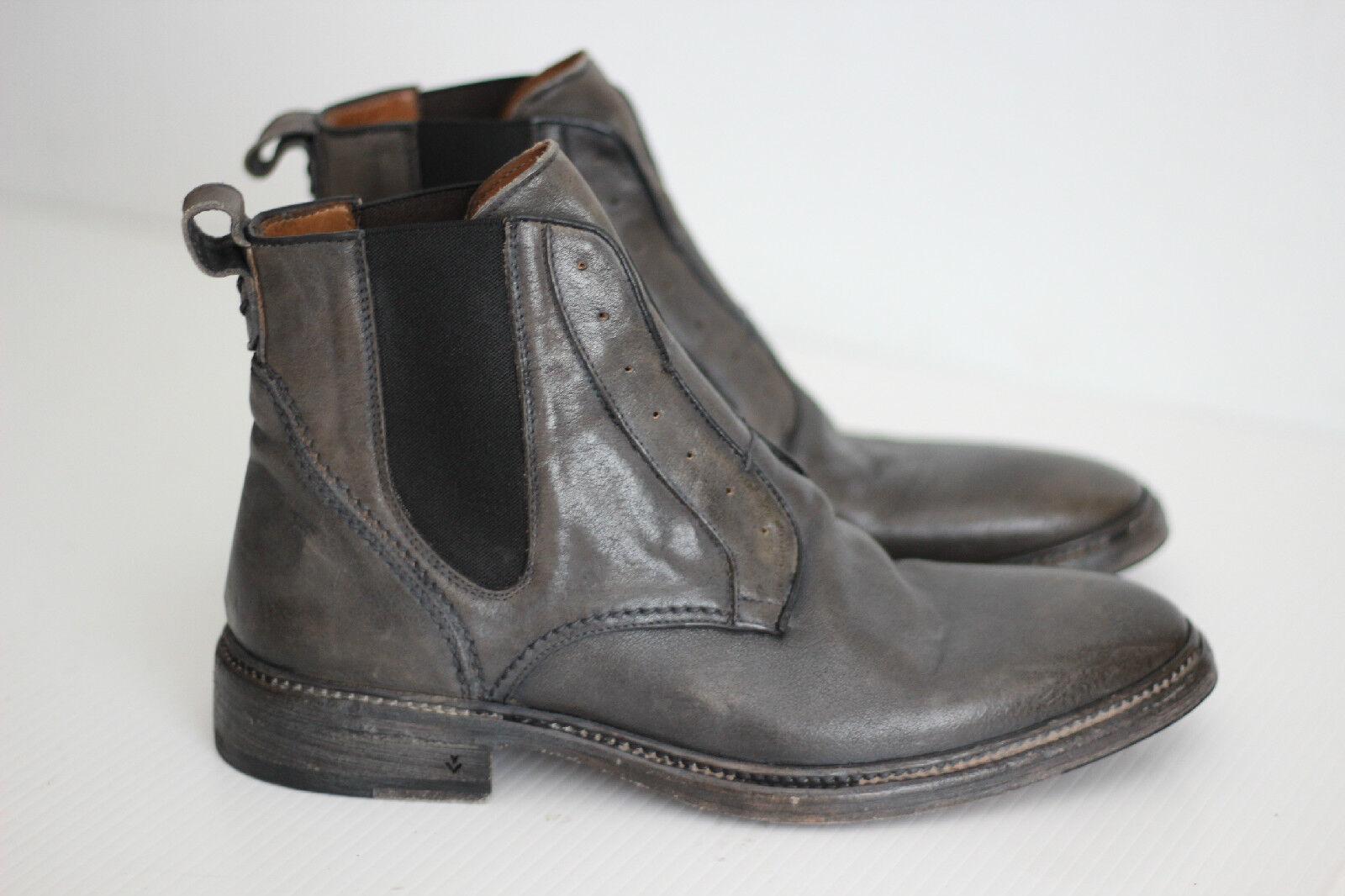 Para Hombre John Varvatos Fleetwood noruego Chelsea Bota De Cuero gris (X48)