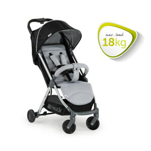 Hauck Buggy Swift Plus Charcoal/Silver Liegebuggy Ultra leicht, Kinderbuggy