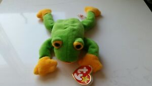 8d6d46f2c1b Ty Beanie Baby Babies  Smoochy  The Frog (Retired 1997) Tag Errors ...
