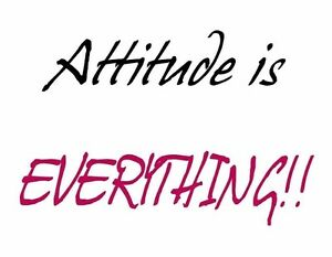 Attitude Is Everything Wall Quote Words Peel And Stick Mural Ebay