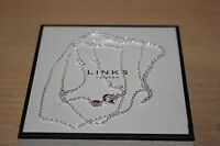 Genuine Links Of London Sterling Silver Dc Cable Pendant Necklace 85 Cm - Bnib