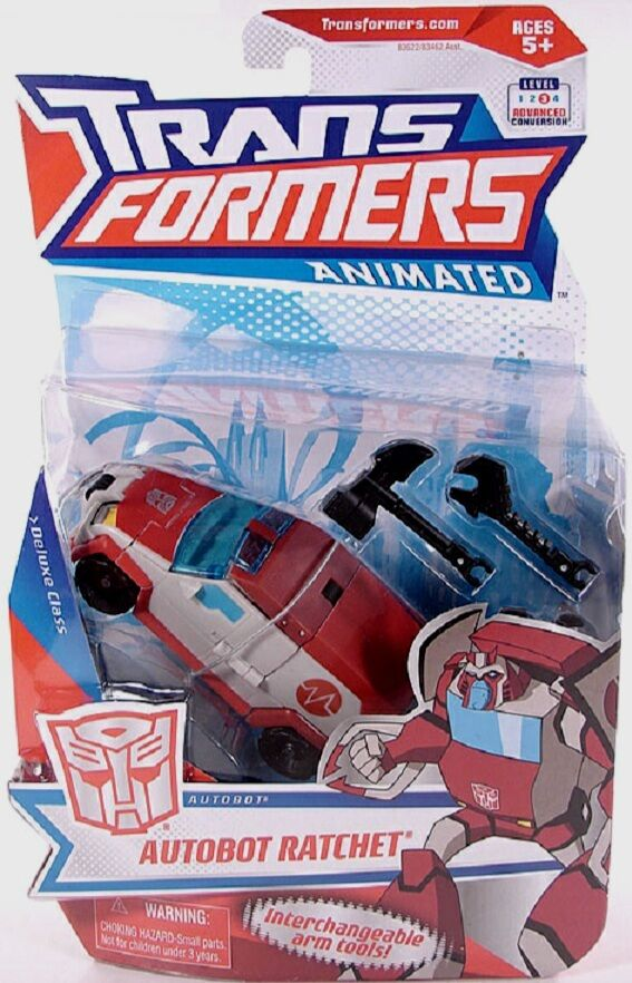 Transformers Animated Deluxe Class Autobot Ratchet New Factory Sealed 2007