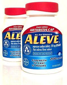 Aleve 2 X 200 Naproxen Sodium Tablets 220 Mg 400 Total Exp 0320