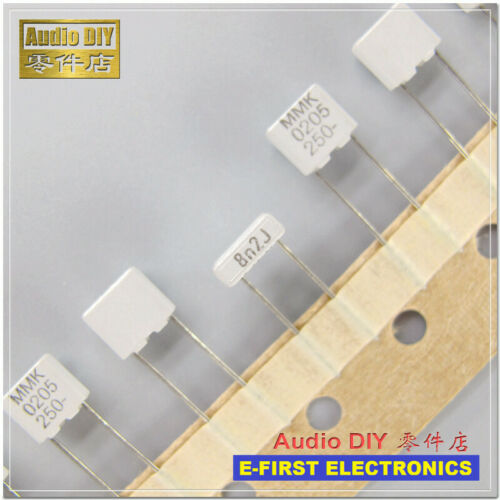 20pcs//200pcs  EVOX MMK5 Series 8200pF//250V 5/% MKT Film Capacitor 8.2nF 822