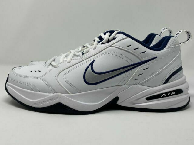 White//Navy Men/'s Air Monarch IV Training Shoes Medium Size 10.5