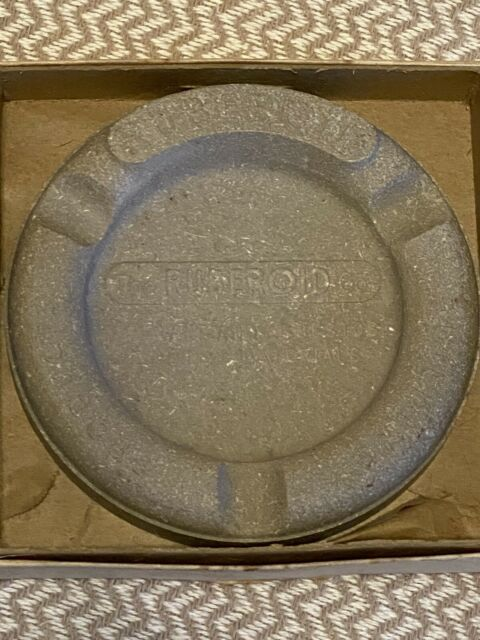 Ruberoid advertising ashtray roofing industry-New Never Used-In Box!!!!!!