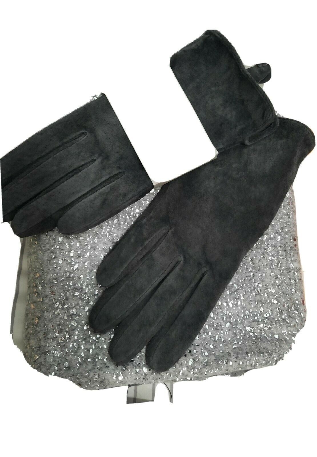 Next Grey Suede Gloves And Scarf new