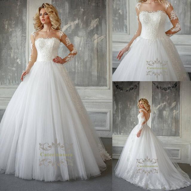 9af0809e58b6 Magic French lace wedding dress Bateau Illusion Long Sleeves bridal gown  2018