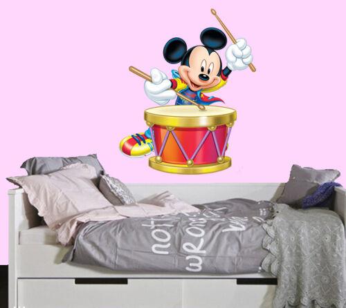 Disney Mickey Mouse Drum LARGE VINYL WALL STICKER DECALS CHILDREN Room 68