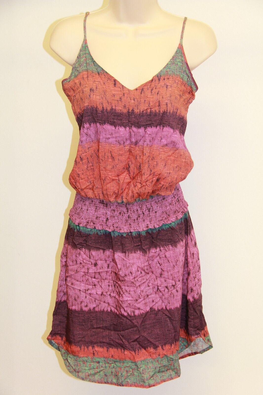 NWT ViX by Paula Hermanny Swimsuit Cover up Tunic Sz S Acai Zoe Short Dress  188