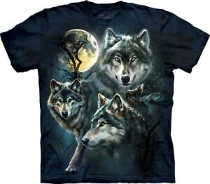 Unisex Adult T Moon Mountain Wolves The Shirt Wolf wSXIZ