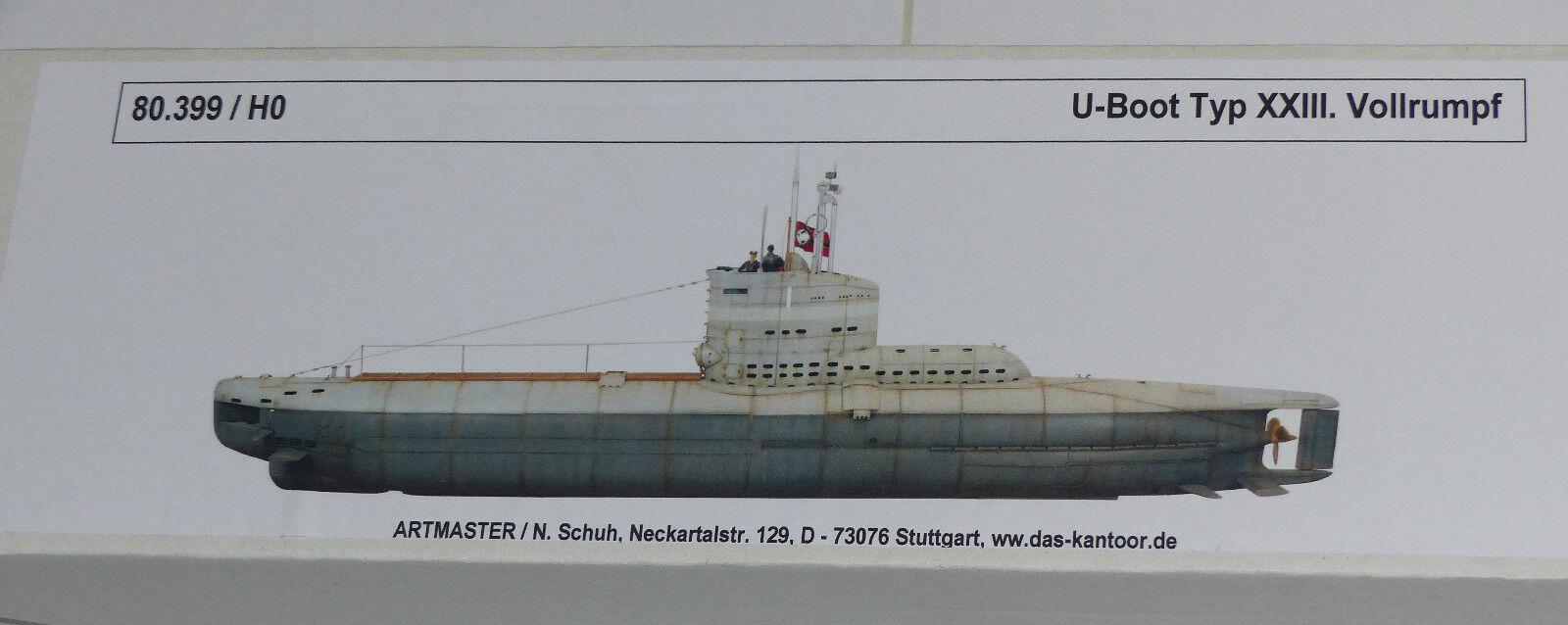 Artmaster 80.399 U-Stiefel Typ XXIII Vollrumpf 1 87 Spur H0 Bausatz Neu   OVP