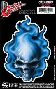 Planet Waves Gt77011 Gtr Tattoo Blue Flame Skull 757785770115 Ebay