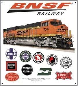Image is loading RAILROAD-TIN-SIGN-BNSF-Railroad-Heritage-Train-Wall-  sc 1 st  eBay & RAILROAD TIN SIGN - BNSF Railroad Heritage / Train Wall Art ...