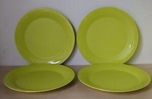 Set Of 4 Tupperware 8.5 Gestures Lime Green Salad Dessert Bread Plate