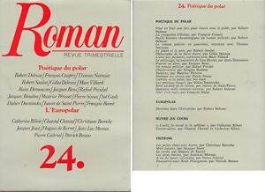 C1-ROMAN-Revue-24-1988-Coupry-POETIQUE-DU-POLAR-Narcejac-Demouzon-Siniac