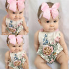 Infant Girls Romper Floral Playsuit Jumpsuit Tutu Dress Outfit One Piece 0-18M