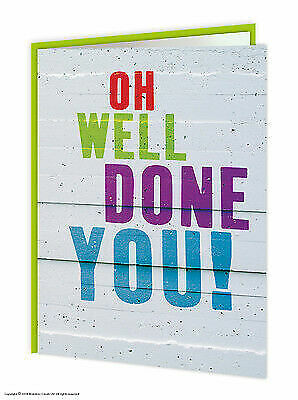 Brainbox Candy Congratulations Well Done Greeting Card funny novelty cheeky