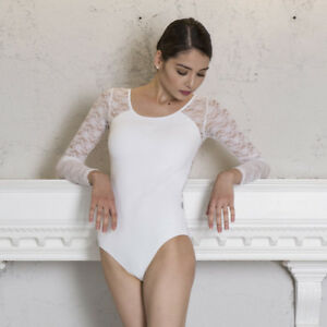 5afc9a620 Image is loading 118141010-Joint-White-Lace-Long-Sleeve-Ballet-Leotards-