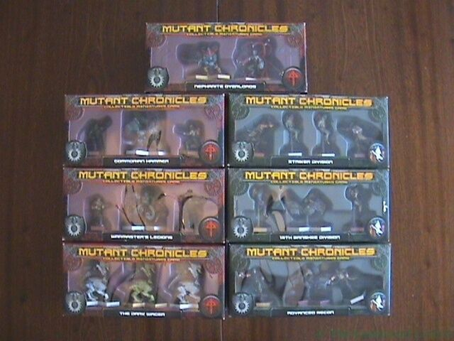 Mutant Chronicles Collectable Figure Sets Boxes Damaged MultiListing Warzone