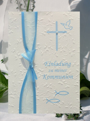 White-Champagne-Won Invitation Cards-Communion-Confirmation-Baptism